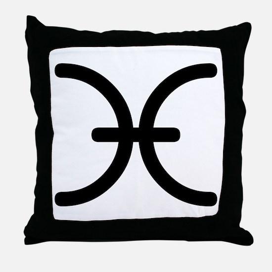 Pisces Symbol Throw Pillow