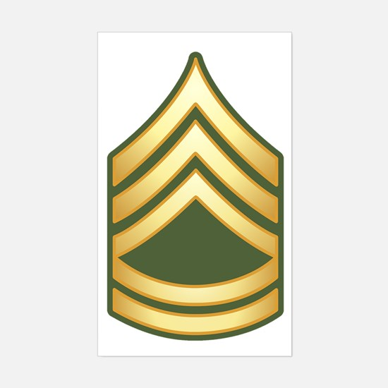 Sergeant First Class Sticker (Rectangle)