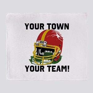 Helmet Red and Gold Throw Blanket