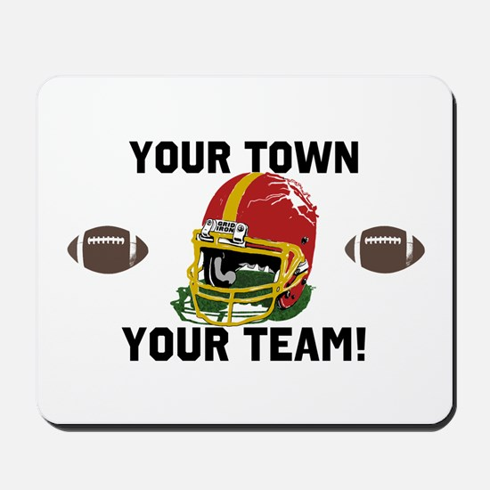 Helmet Red and Gold Mousepad