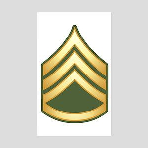 Staff Sergeant Sticker (Rectangle)