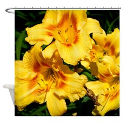 Yellow Tiger Lilies Shower Curtain