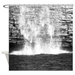 Waterfall Photograph Shower Curtain