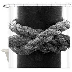 Nautical Rope Knot Shower Curtain