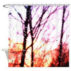 Raindrop Sunset Shower Curtain
