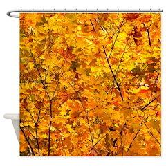 Autumn Leaf Glow Shower Curtain