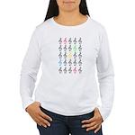Colorful Treble Clefs Women's Long Sleeve T-Shirt