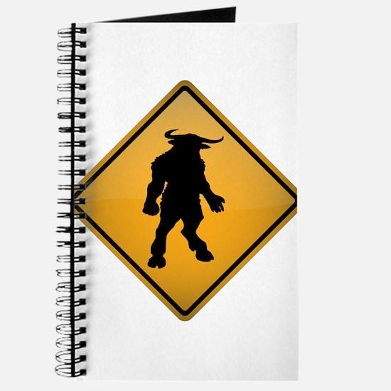 Minotaur Warning Sign Journal