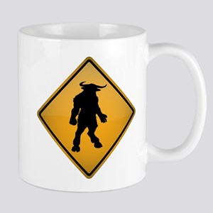 Minotaur Warning Sign Mug