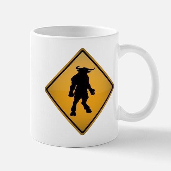 Minotaur Warning Sign Mug