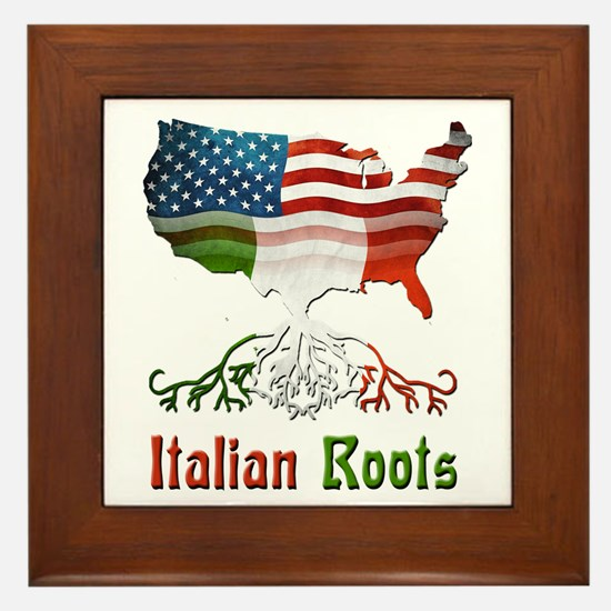 American Italian Roots Framed Tile