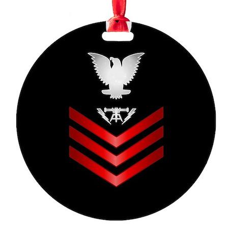 Navy Fire Controlman First Class Round Ornament