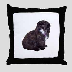 Shih Poo Love Throw Pillow