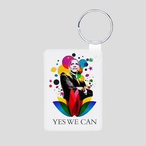 Obama - Yes we can Aluminum Photo Keychain