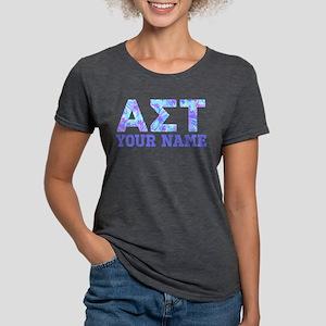 Alpha Sigma Tau Blue Purp Womens Tri-blend T-Shirt
