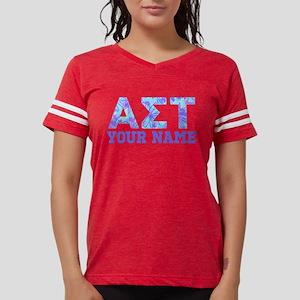 Alpha Sigma Tau Blue Purple Womens Football Shirt