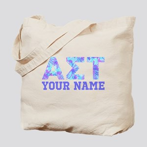 Alpha Sigma Tau Blue Purple Letters Perso Tote Bag