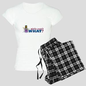 Girl Drumming Women's Light Pajamas