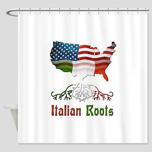 American Italian Roots Shower Curtain