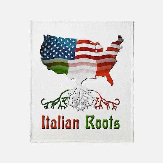 American Italian Roots Throw Blanket
