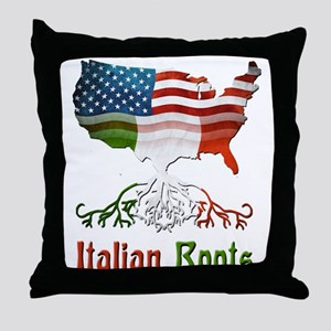 American Italian Roots Throw Pillow