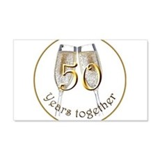 50 Years Together Wall Decal