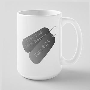 I survived basic training at Fort Sill Large Mug