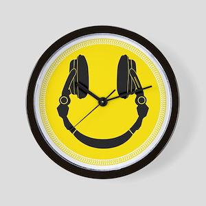DJ Smiley Headphone Platter Wall Clock