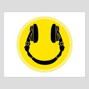 DJ Smiley Headphone Platter Small Poster