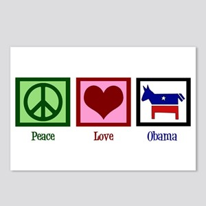 Peace Love Obama Postcards (Package of 8)