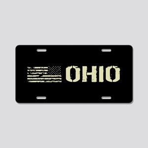 Black Flag: Ohio Aluminum License Plate