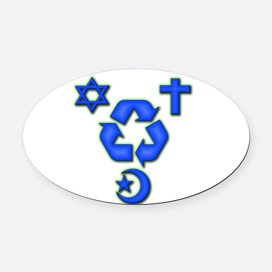 Recycled ideas Oval Car Magnet
