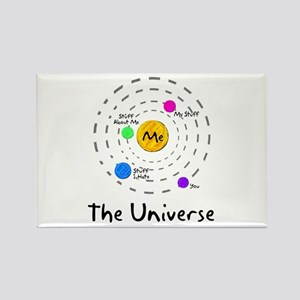 The universe revolves around me Rectangle Magnet