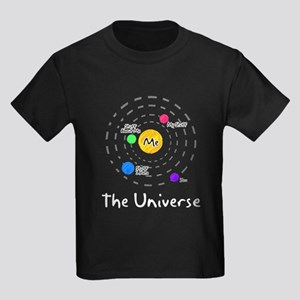 The universe revolves around me Kids Dark T-Shirt