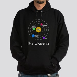The universe revolves around me Hoodie (dark)