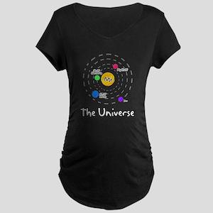 The universe revolves around me Maternity Dark T-S