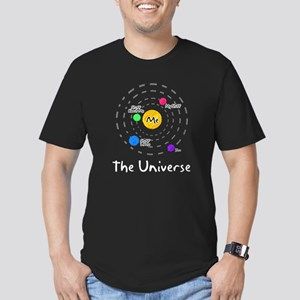The universe revolves around me Men's Fitted T-Shi