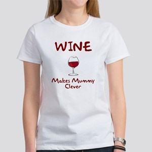 Wine Makes Mummy Clever Women's T-Shirt