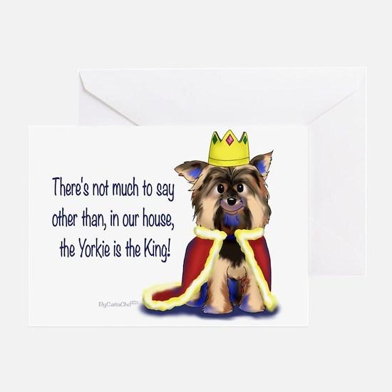 Yorkie King Greeting Card