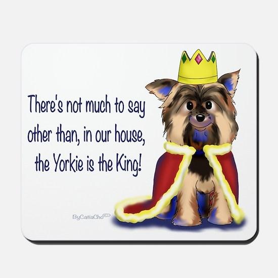 Yorkie King Mousepad