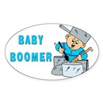 MUSICAL BABY BOOMER Oval Sticker
