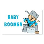 MUSICAL BABY BOOMER Rectangle Sticker