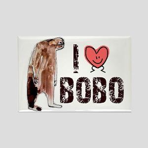 I Love Heart <3 Bobo Rectangle Magnet