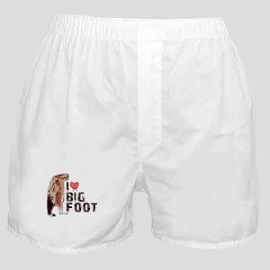 I Love Heart <3 Bigfoot Boxer Shorts