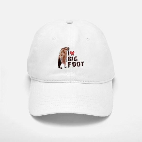 I Love Heart <3 Bigfoot Baseball Baseball Cap