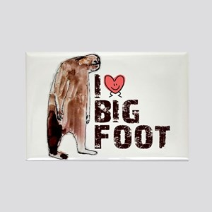 I Love Heart <3 Bigfoot Rectangle Magnet