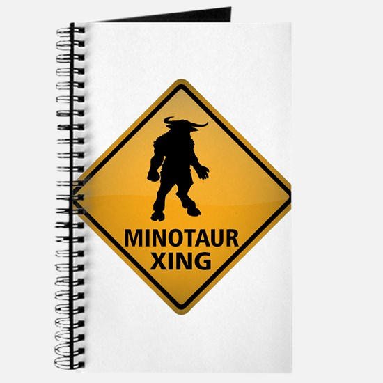 Minotaur Crossing Sign Journal