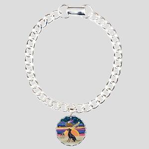 XmasAngel-Manchester Terrier Charm Bracelet, One C