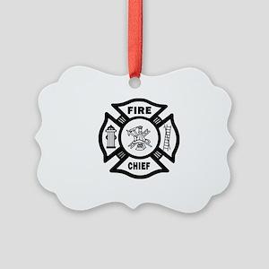 Fire Chief Picture Ornament