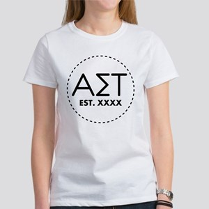 Alpha Sigma Tau Circ Women's Classic White T-Shirt